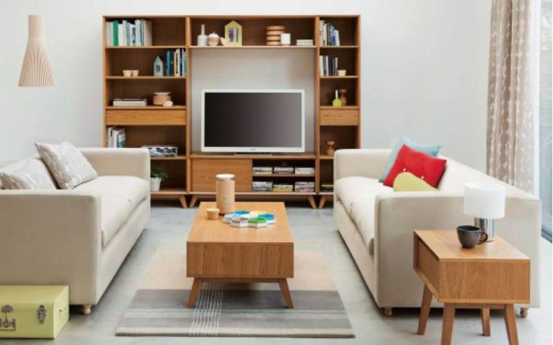 sofa minimalis untuk ruang tamu dan apartemen