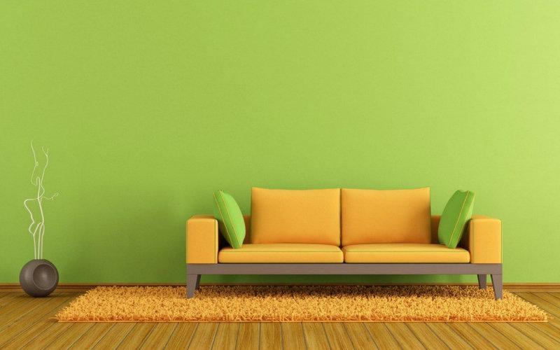 sofa minimalis modern terbaru hijau