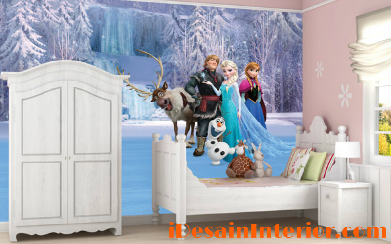 wallpaper kamar anak perempuan frozen