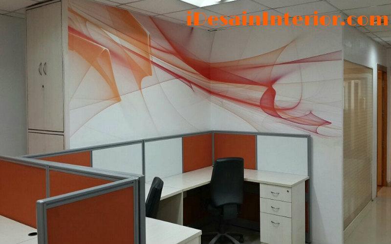 wallpaper ruang kantor orange