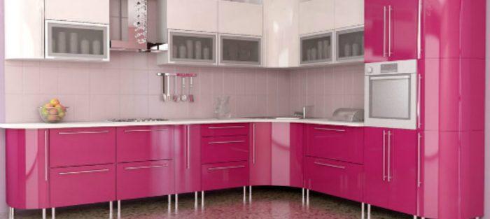 kitchen set pink