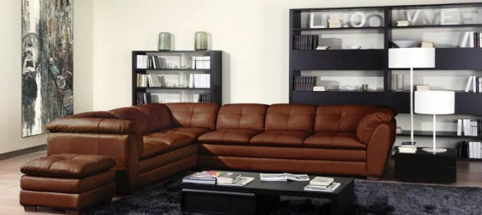 sofa kulit informa sectional capella