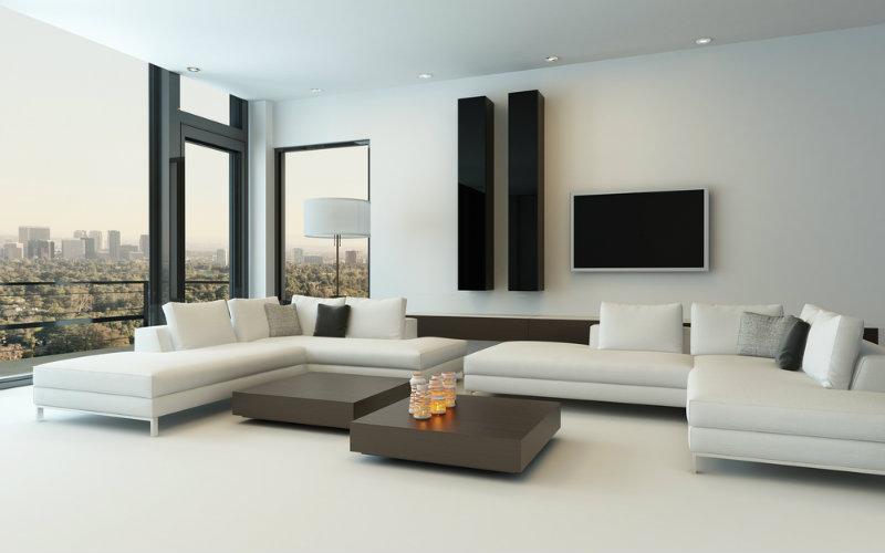 sofa kulit minimalis ruang tamu