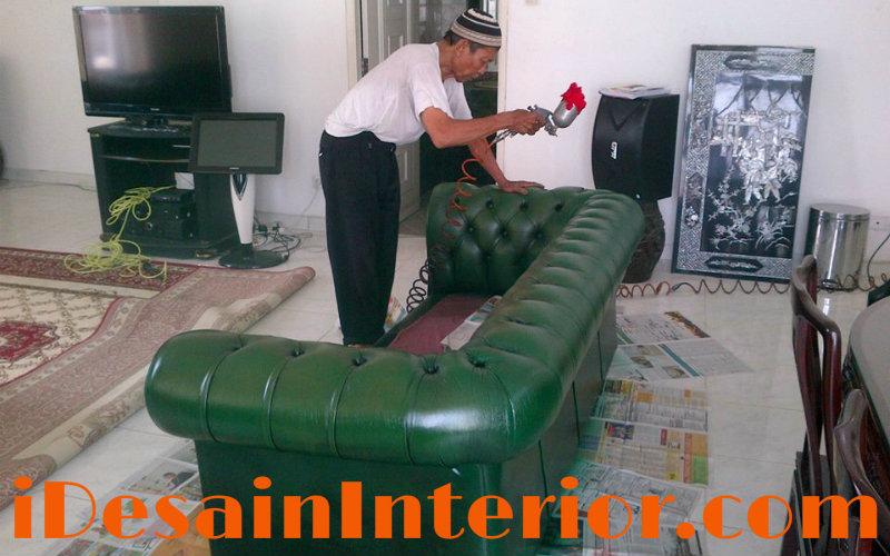 pengerjaan ganti kulit sofa
